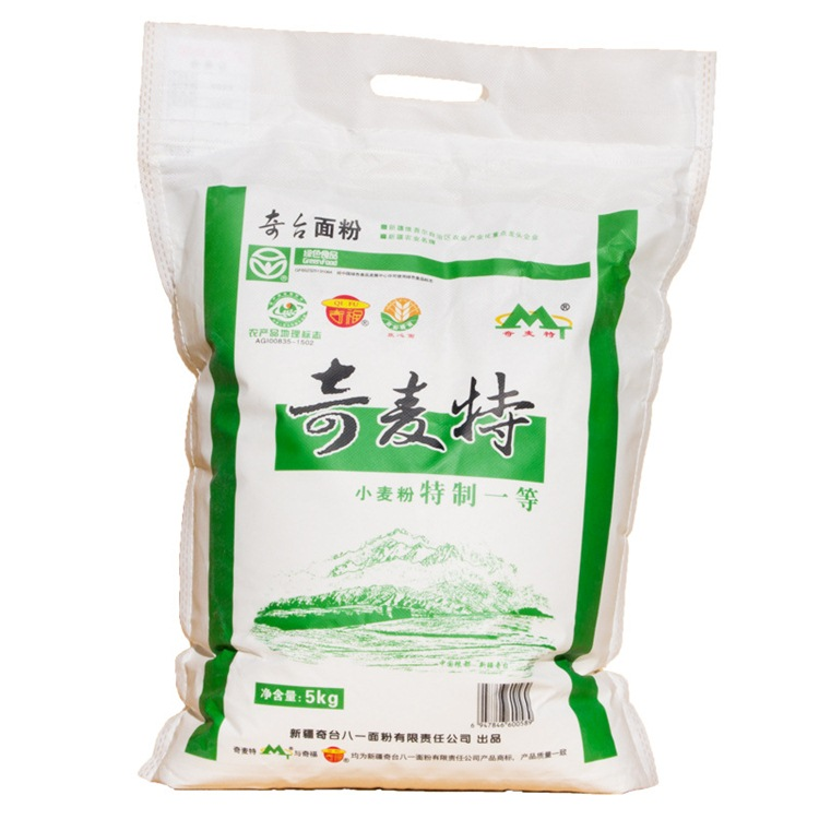 新疆奇麦特一等中筋面粉5kg10斤奇台特产面点糕点拉面条小麦粉强