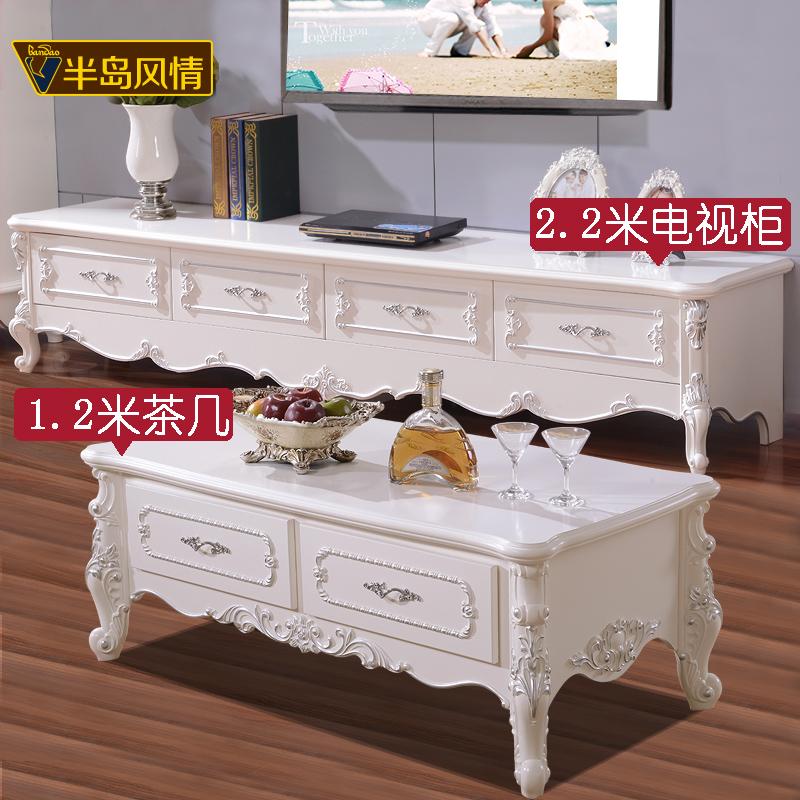 Европейский шкаф для телевизора 2 метра из цельной древесины белый Кофейный столик для телевизора поколение Простой шкаф для спальни