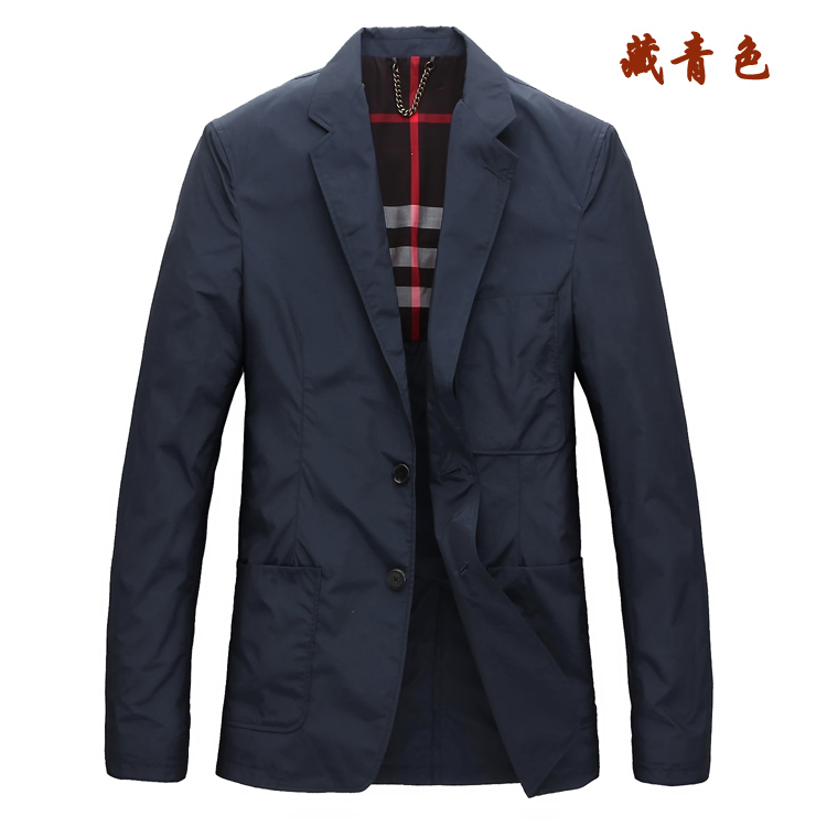Thin mens suit anti wrinkle leisure polyester fiber foreign trade waterproof butbirey home 21 spring and autumn mens coat