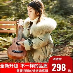 【升级版】女童2020年新款韩版正品羽绒服中长款洋气加厚儿童外套