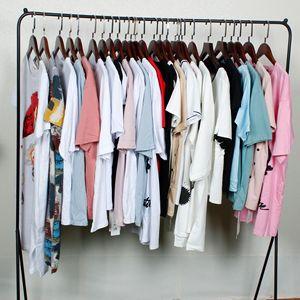 品牌折扣t恤女纯棉圆领宽松女装简约2021夏款百搭减龄内