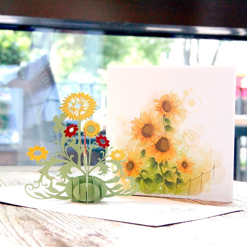 生日贺卡立体diy手工纸雕新款3d创意纸雕礼物祝福感谢小卡片定制