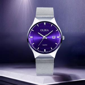 Olika/欧力嘉超薄男士腕表时尚休闲石英手表防水男士手表男表特价