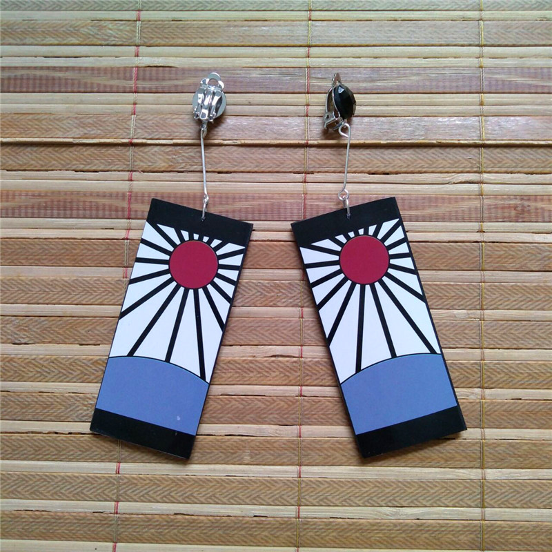 Ghost blade kitchen door tanzhilang Earrings cos earrings earrings earrings clip anime tanzhilang cos same mask