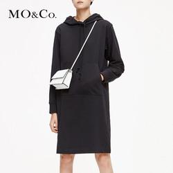 MOCO2019春季新品连帽爱丽丝卡通图案卫衣裙MAI1DRS041 摩安珂