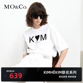 moco2021秋季新品kimhekim联名t恤