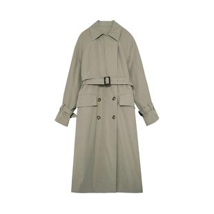 範洛2020秋冬新款灰駝色英倫風衣女中長款薄款休閒百搭外套女