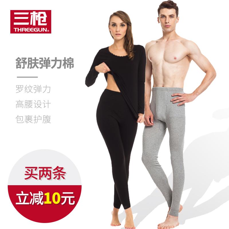 Три пистолет хлопок осенние брюки спеццена на качественную продукцию мужской эластичность хлопок тонкая модель теплый линия брюки женские рейтузы брюки