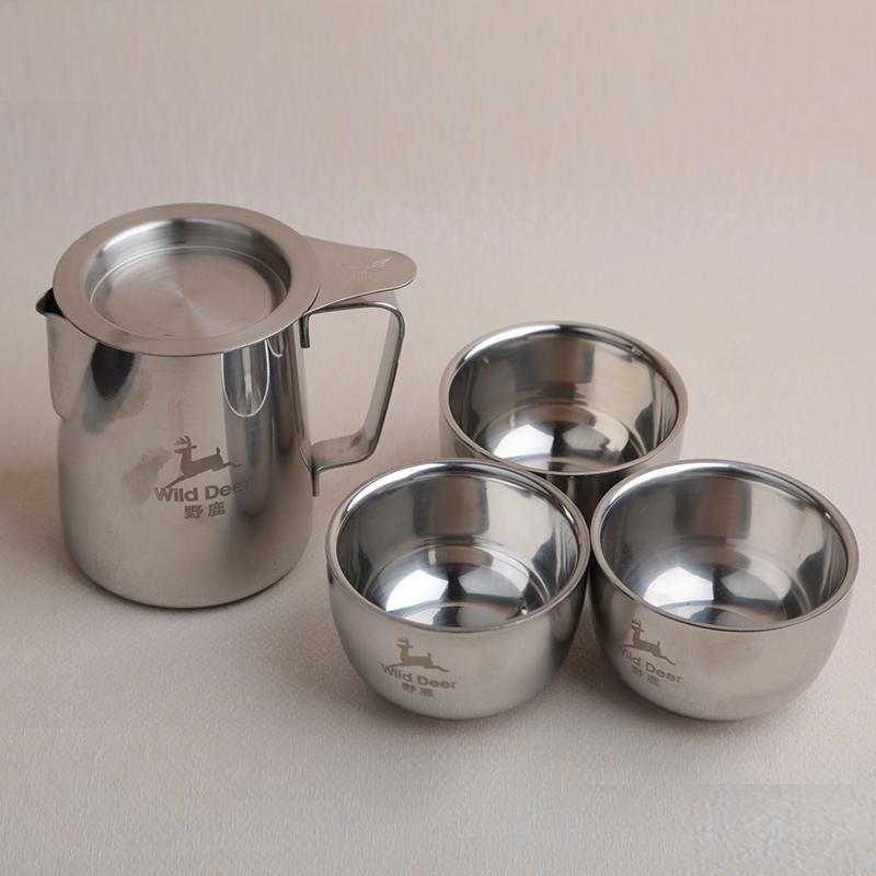 На открытом воздухе нержавеющей стали пузырь чай устройство усилие чашка фильтр чайник на открытом воздухе путешествие чайный сервиз портативный на открытом воздухе усилие чайный сервиз