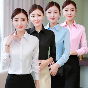 领10元券购买长袖2019春秋新款韩版修身白衬衫