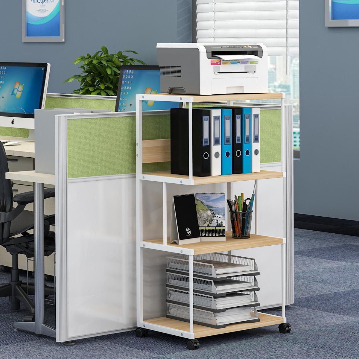 打印机架办公置物储物架复印桌柜子可定制移动多层落地收纳主机架