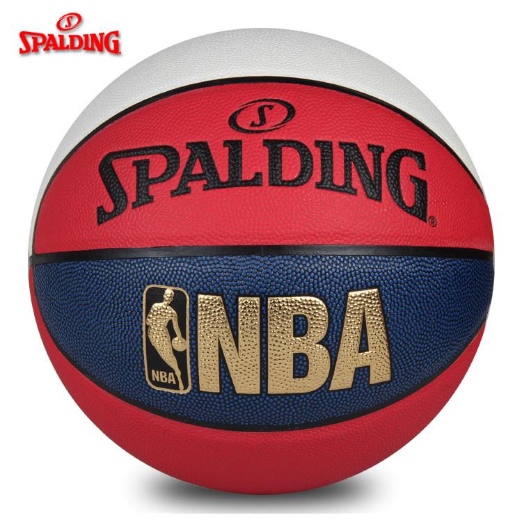 可乐文体斯伯丁篮球NBA室外7号七号耐磨街头花式比赛74-655