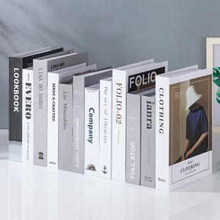 简约现代北欧风格假书仿真书装饰品道具摆设模型创意客厅书柜摆件图片
