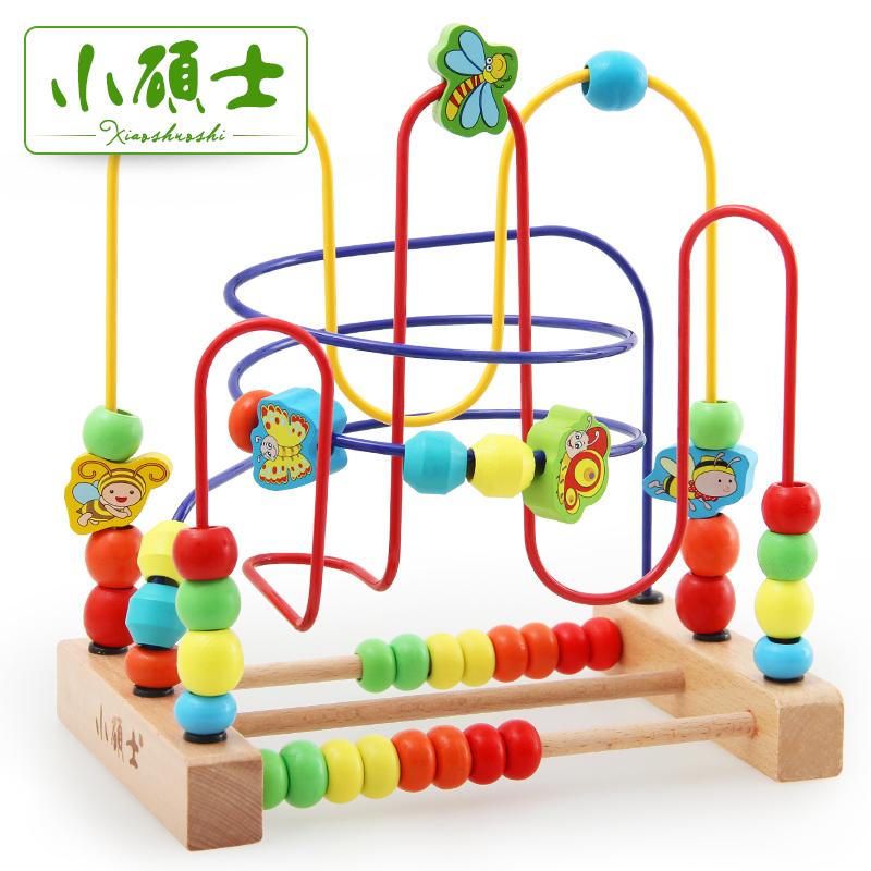 幼兒童串珠繞珠早教嬰兒玩具6~12個月寶寶益智玩具0~1~2歲3周歲df