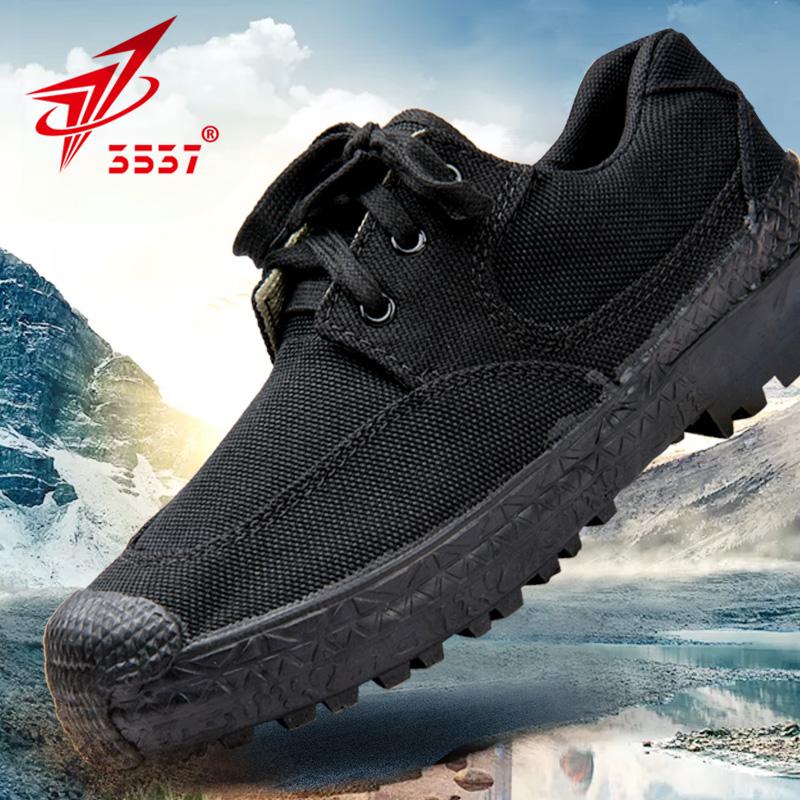 3537正品解放鞋男作训鞋民工帆布胶鞋工地劳动鞋保安鞋子黑色军鞋