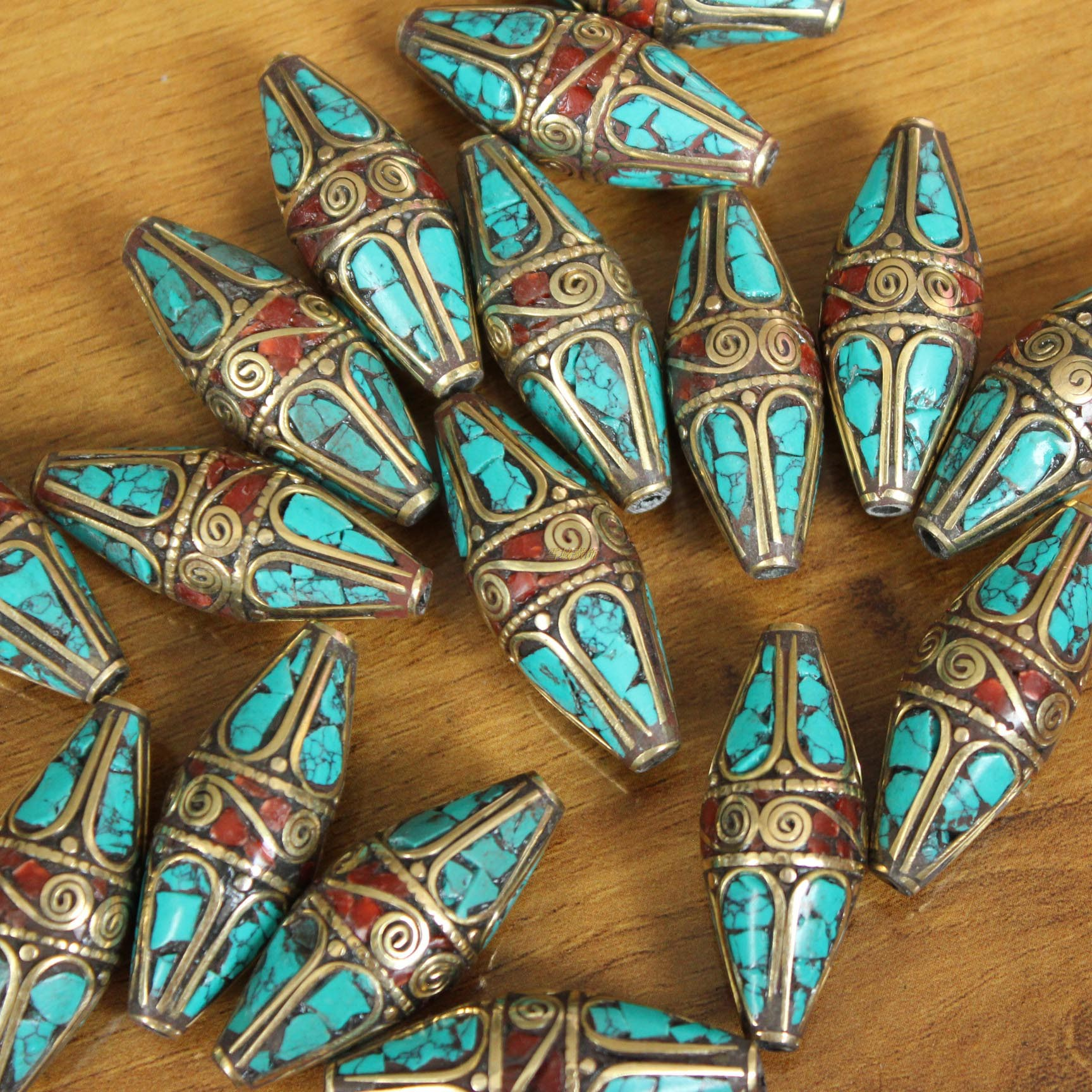 尼泊尔西藏饰品民族藏族锅庄舞蹈台活动手链手动DIY散珠子满包邮