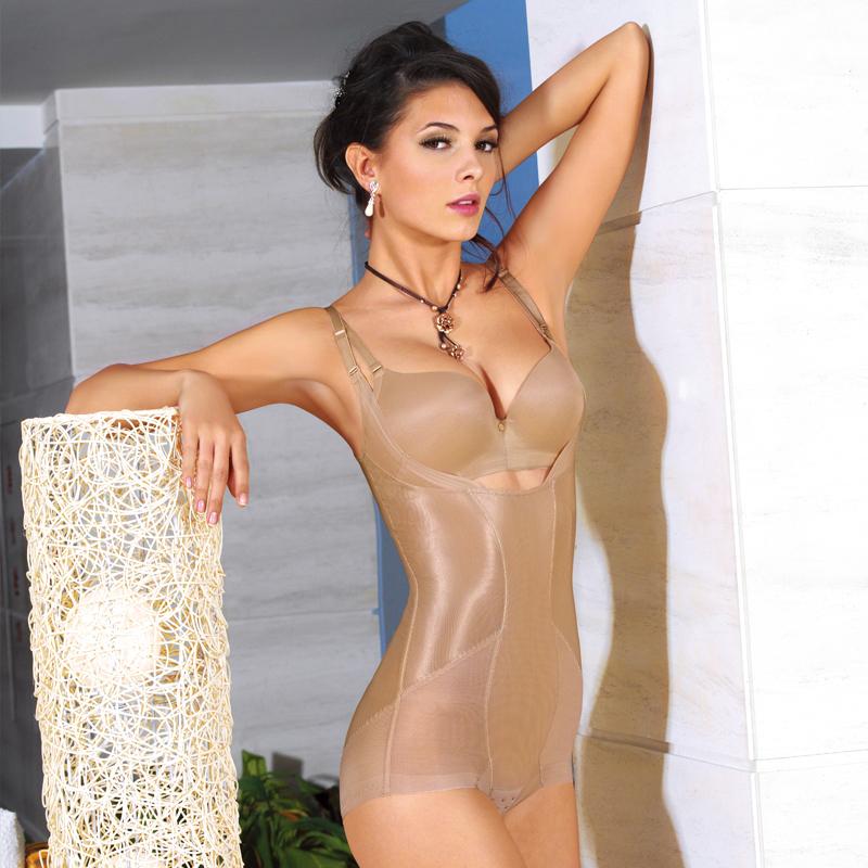 体会连体塑身衣收腹束腰提臀美体薄款无痕修身减肚子瘦身衣SL8051