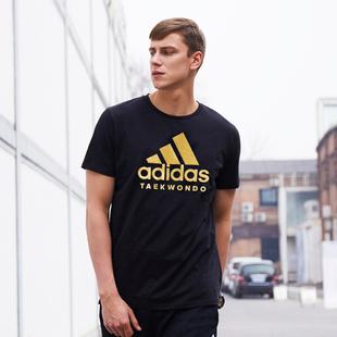 季 情侣款 潮流运动透气圆领短袖 T恤男2021新款 阿迪达斯官网短袖