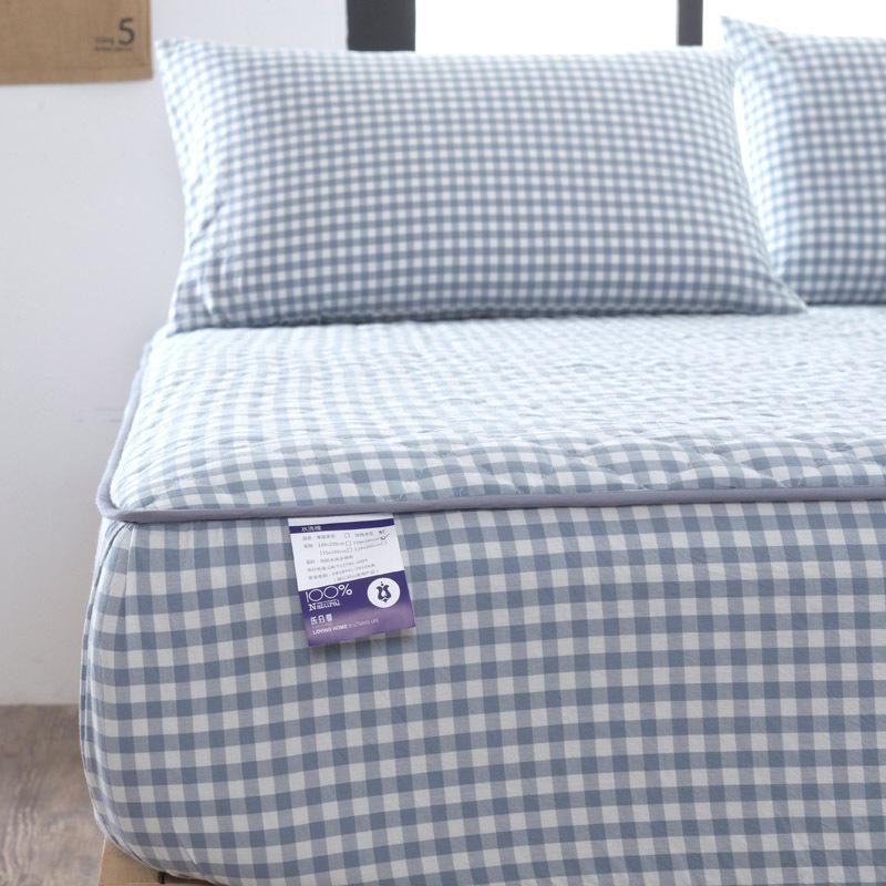 全棉加厚夾棉床笠單件純棉床套床罩席夢思床墊保護套防滑固定床單