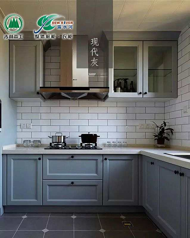 Lushuihe kitchen cabinet customized modern simple kitchen cabinet Nordic Industrial Wind imported whole kitchen customized