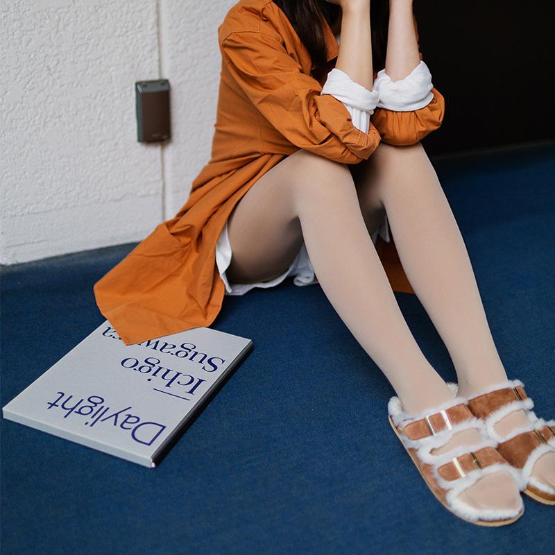 靴下物两双装80D丝袜女秋冬季连裤袜防勾丝薄天鹅绒抗起球打底袜