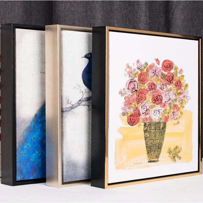 圓形鋁合金外框照片定制相框掛畫超大尺寸定做現代油畫框裝飾畫