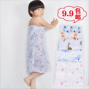 速干薄一层纱布婴儿单层小号便携夏天 宝宝纱巾小浴巾超薄夏季 薄款