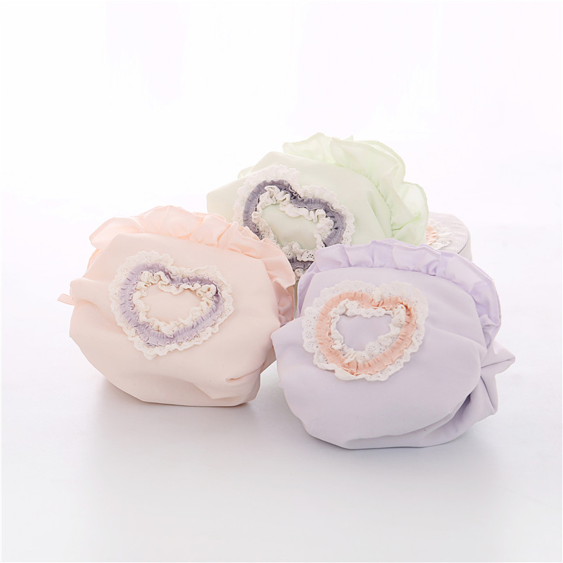 Sweet and lovely lace girl heart Makeup Bag Travel Portable makeup bag Rugby cosmetics storage bag small