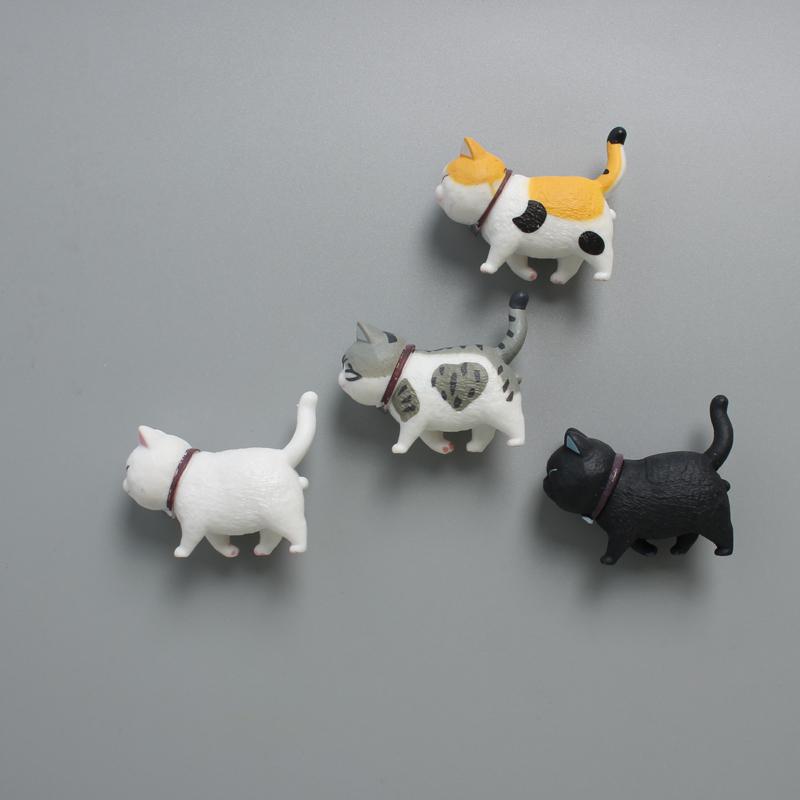 创意可爱立体猫咪猫猫冰箱贴 磁贴磁力贴 韩国卡通装饰磁贴磁性贴