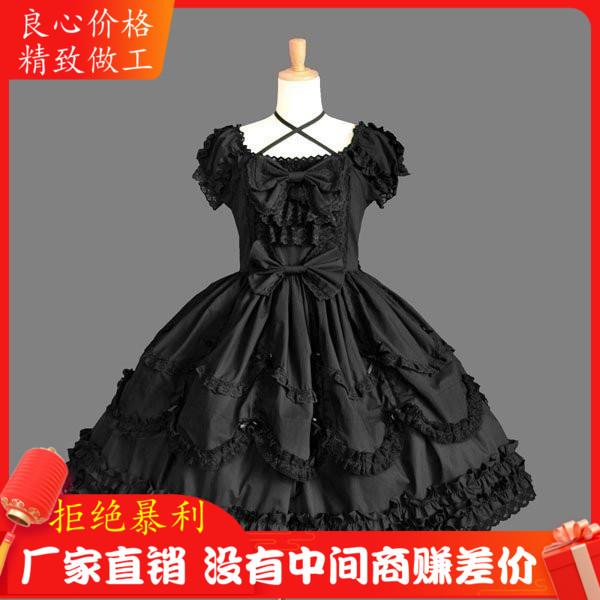 Halloween Christmas New Years Day gift day Lolita Dress princess dress all black dress performance dress