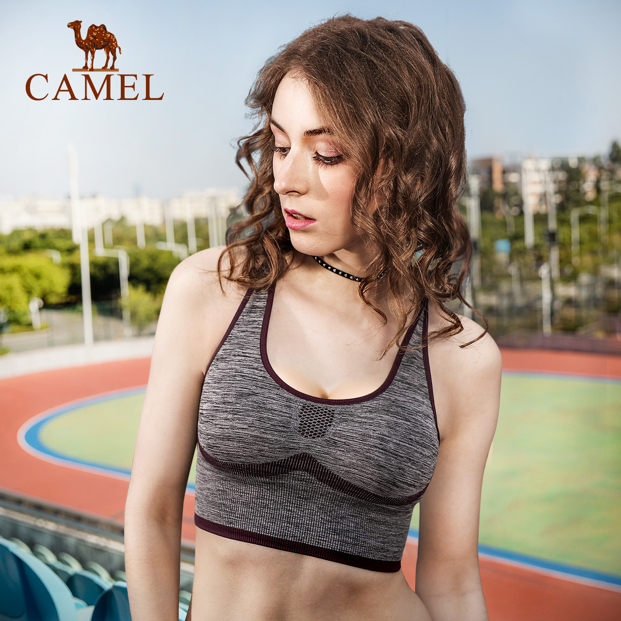 2018新款骆驼运动内衣女春夏季瑜伽健身跑步文胸吸湿速干运动背心