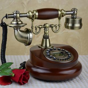 欧式 仿古家用座机时尚 转盘电话机美式 复古老式 创意电话无线插卡