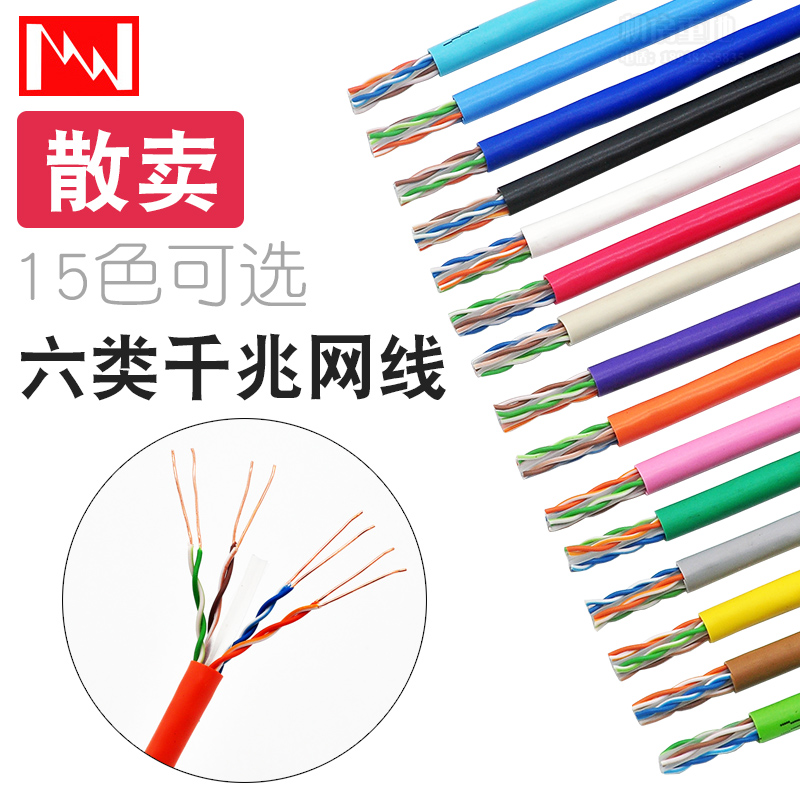 (用1元券)原装日线千兆网线 15种颜色 NIPPON SEISEN CAT6六类网络线家用