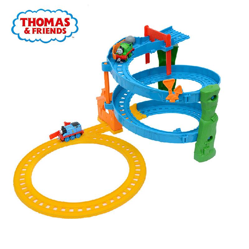 托馬斯和朋友小火車軌道車旋轉賽道套裝合金小火車頭玩具車BHR97