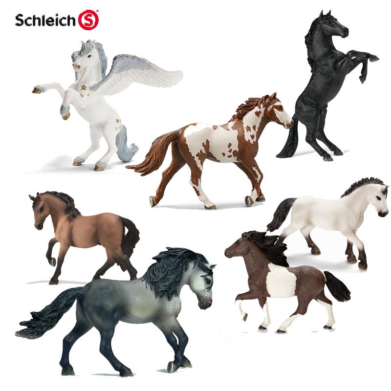 正品德國思樂Schleich仿真動物模型玩具 馬模型男孩珍藏