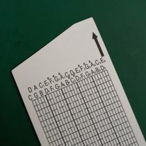 谱曲音乐盒八音盒双面塑料覆膜DIY音30米整卷空白纸带纸卡手摇25