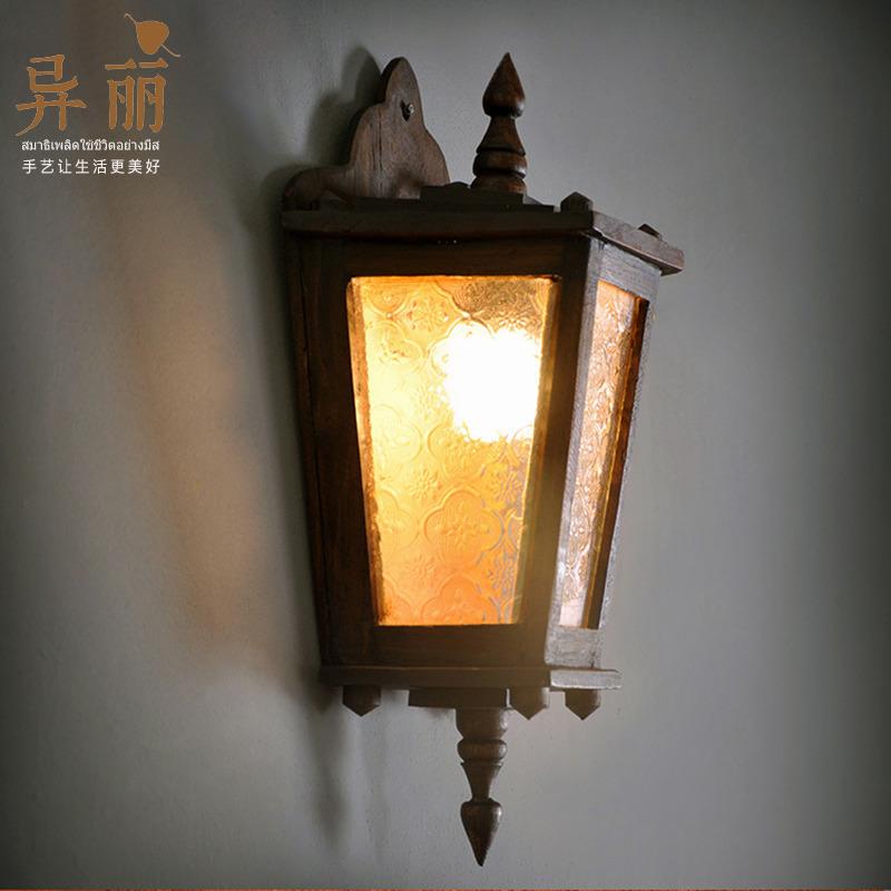 异丽东南亚风格复古过道阳台壁灯