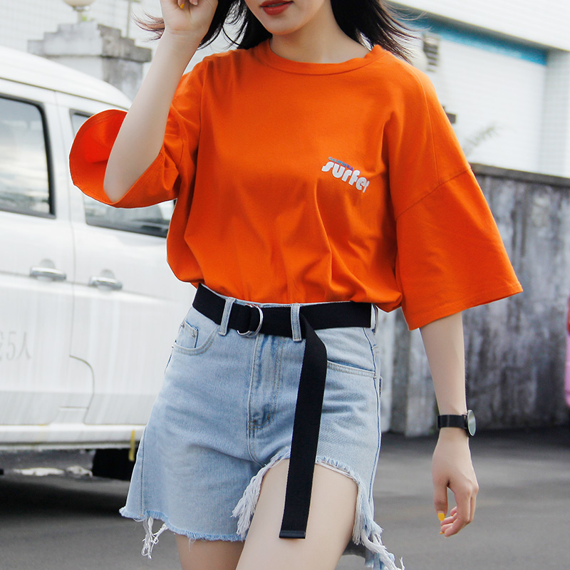 Belt women jeans canvas belt womens skirt simple versatile Korean decorative belt fashion