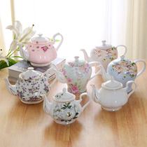金边欧式花茶骨瓷英式下午茶茶具套装家用沏茶单壶单个陶瓷红茶壶