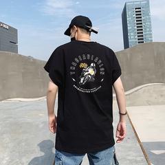 夏季新款 ins 国潮 暴力摩托印花短袖圆领T恤男有版权 5512 P35