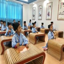 幼儿园国学桌琴桌仿古中热卖围棋桌书法儿童书画辅导班课桌椅座椅