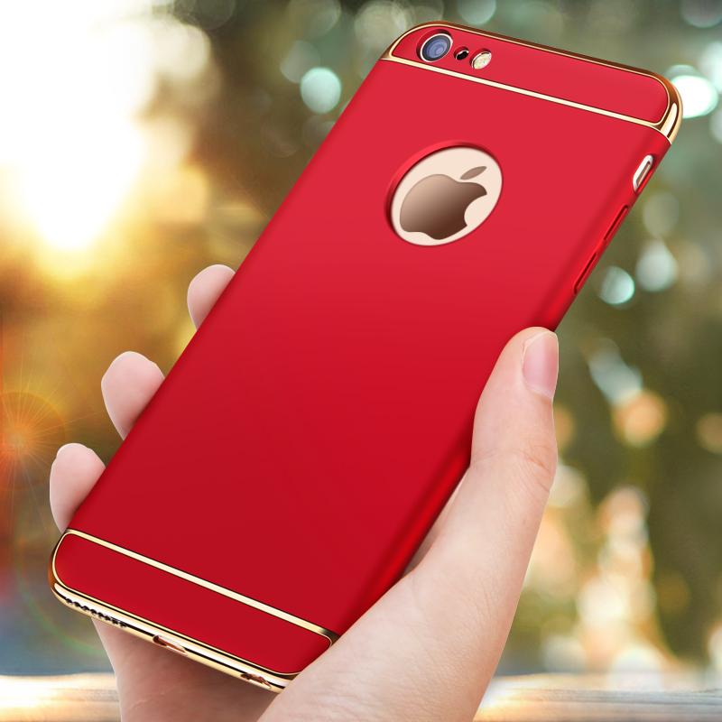飆愛蘋果6s手機殼iPhone6簡約i6P 6sPlus女款全包防摔硬殼