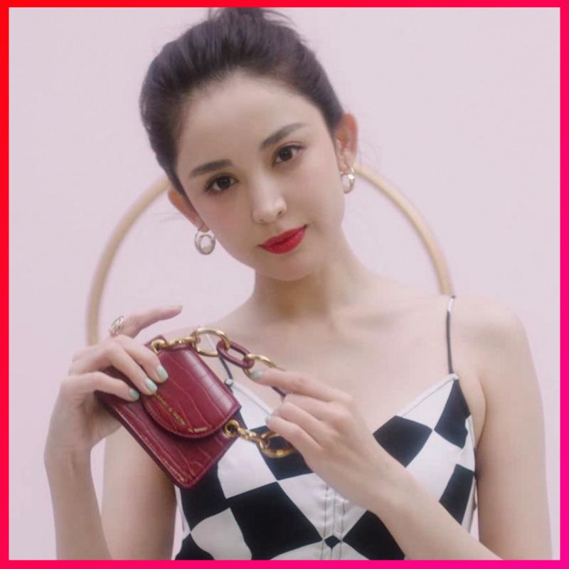 小CK女包古力娜扎mini零钱包口红包新加坡限定洋气迷你链条斜挎包