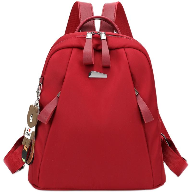 双肩包女士2019新款韩版百搭潮牛津布背包时尚休闲大容量旅行书包