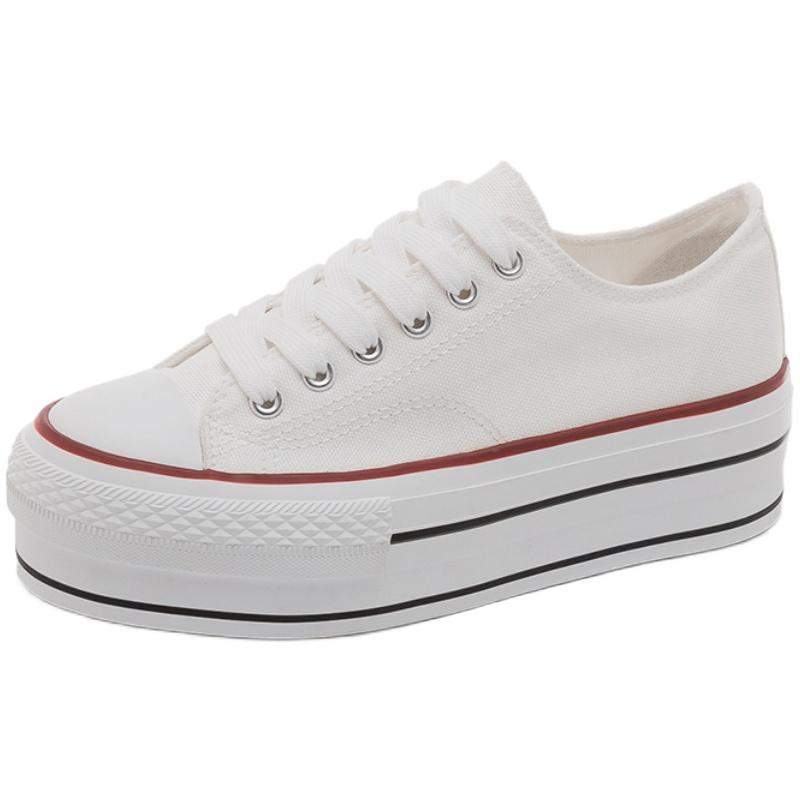 2021春季新款厚底松糕透气帆布鞋好用吗