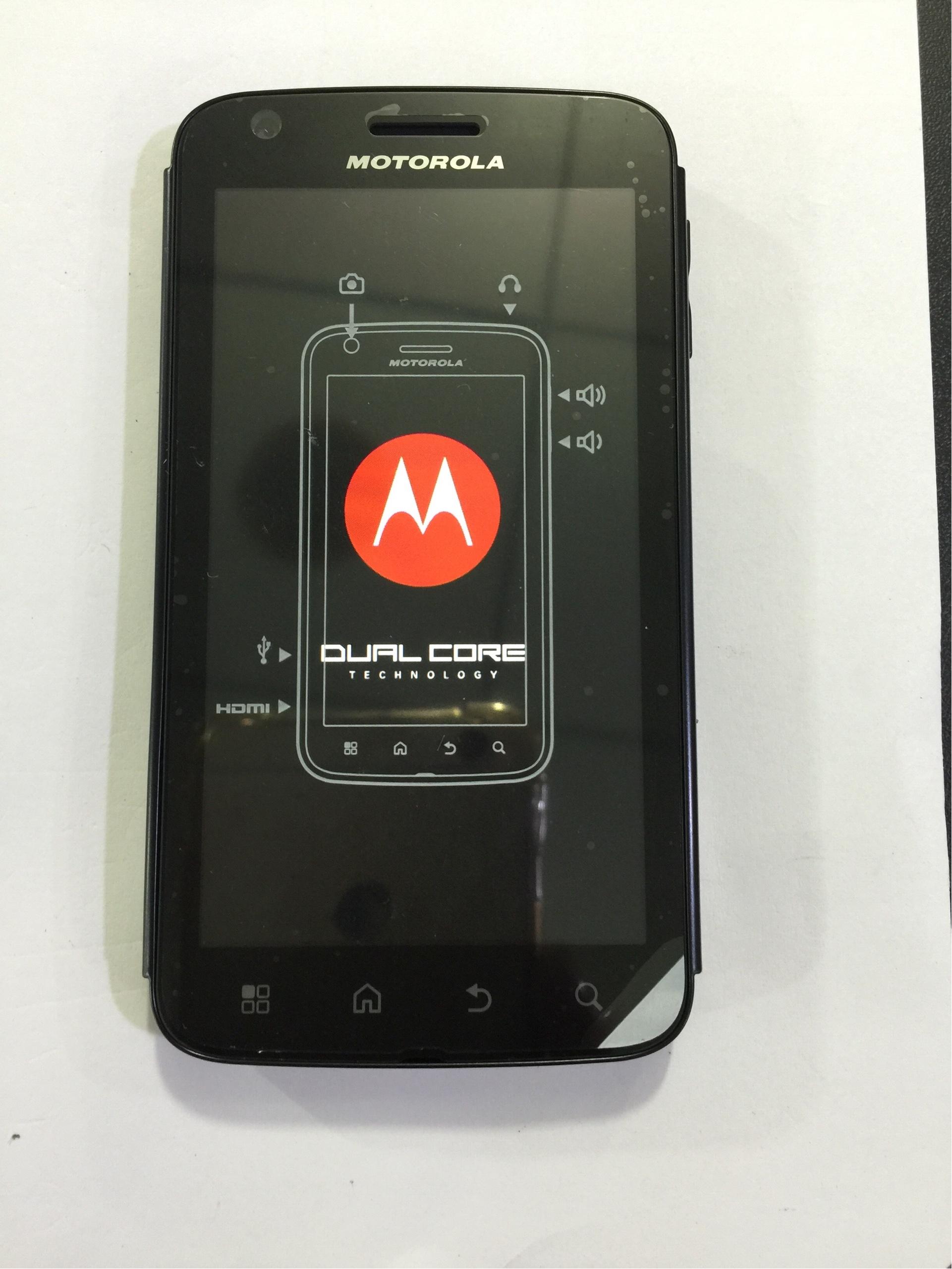 摩托罗拉库存新机MB860带一个电池一个充电器,百分百新机