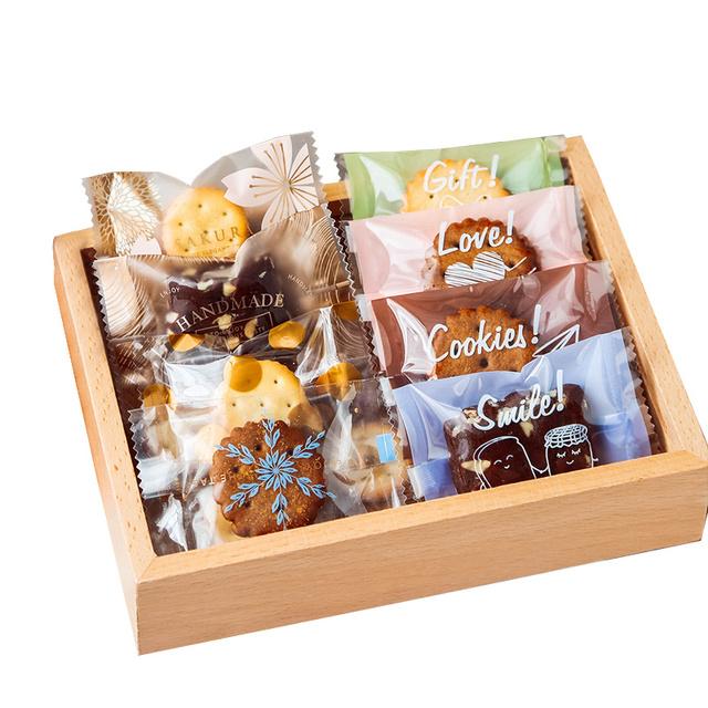 雪花酥包装自封袋饼干曲奇纸奶枣小机封袋子糖果盒子牛轧糖烘焙盒