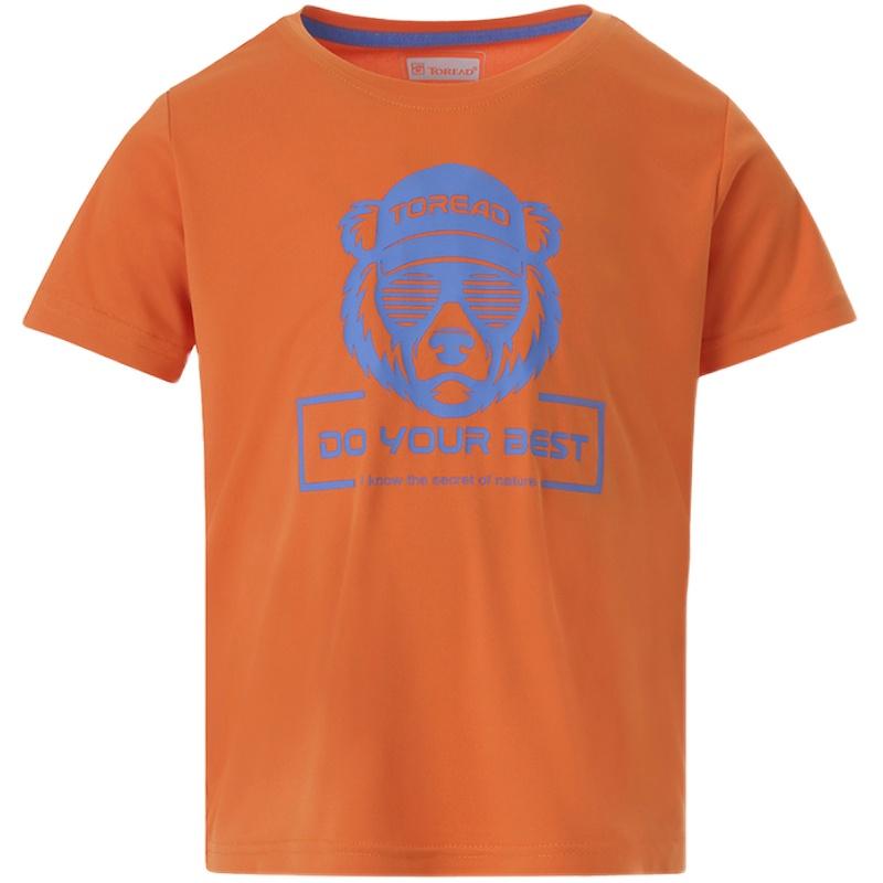探路者童装2021春夏新品儿童快干透气短袖T恤男女童亲肤舒适半袖