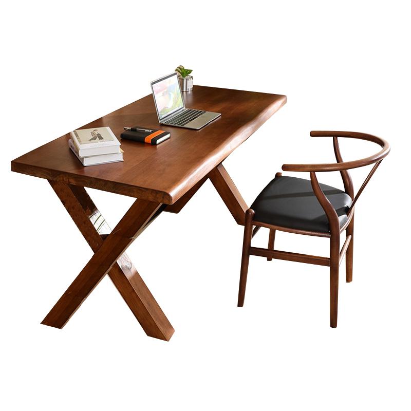 全实木电脑台式桌定制松木书桌子好不好
