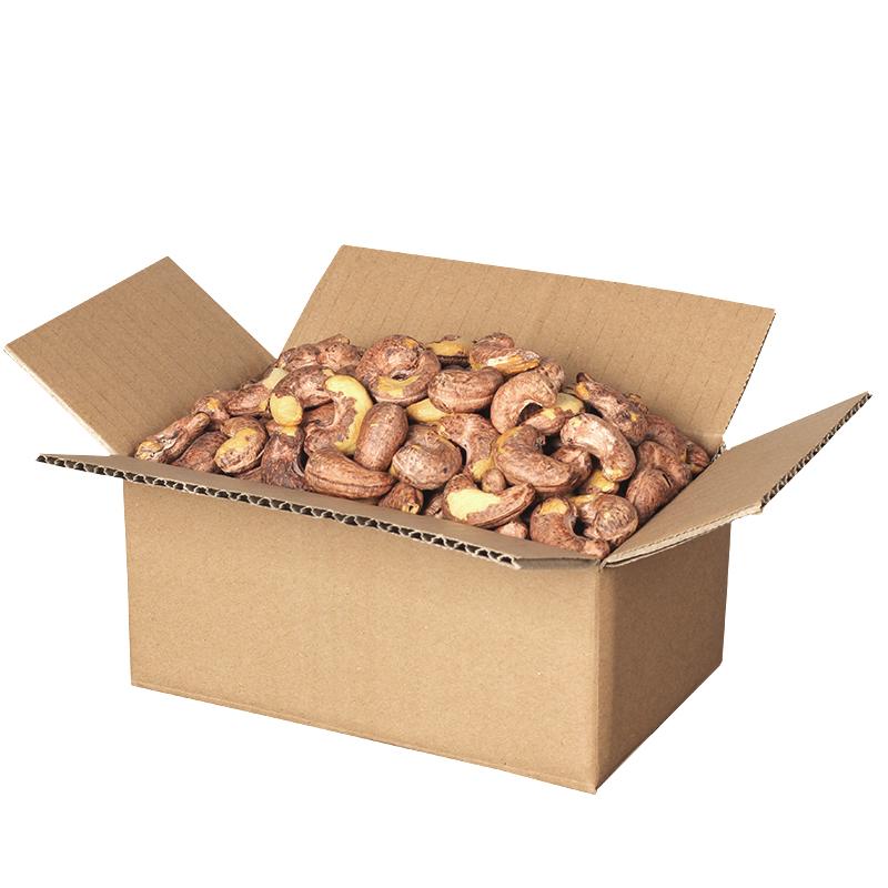 紫皮盐焗腰果500g原味坚果带皮零食大干果仁散装整箱5斤1越南批发
